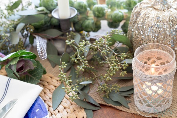 An easy tablescape inspired by the produce aisle I Finding Silver Pennies
