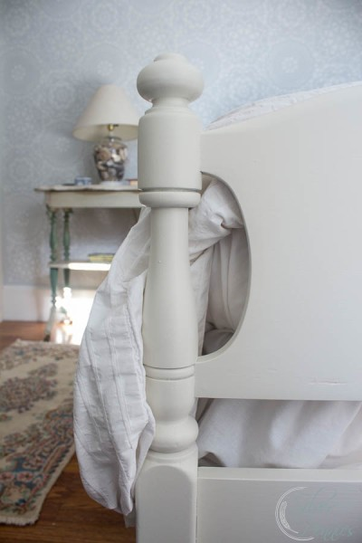 White Painted Bed