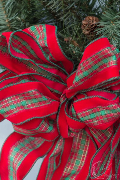 Close Up Bow on Wreath