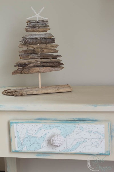 Coastal Table and Driftwood Tree