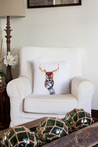 Deer Pillow in Living Room