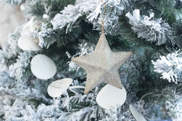 German Glitter Glass Star and Coastal Garland