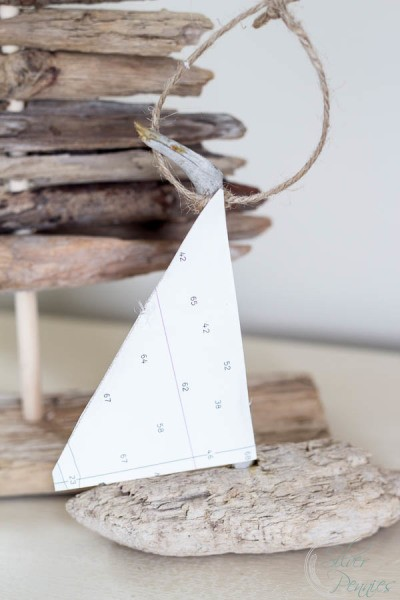 How to Make Driftwood Sailboat Ornaments - Finding Silver Pennies