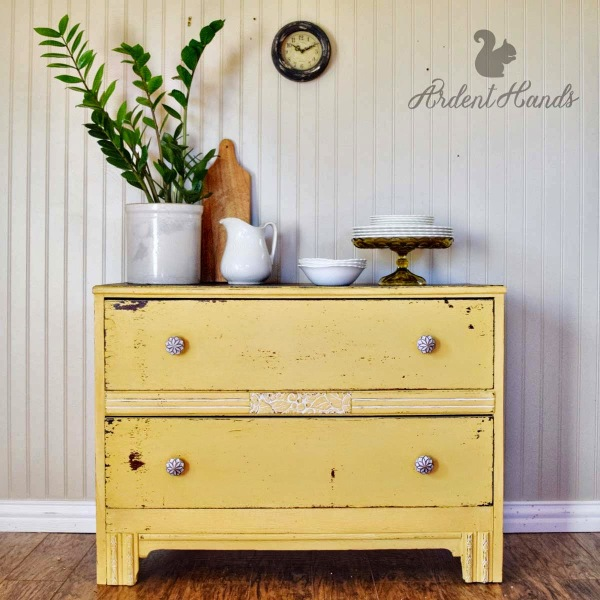 Mustard Seed Yellow Dresser wm1
