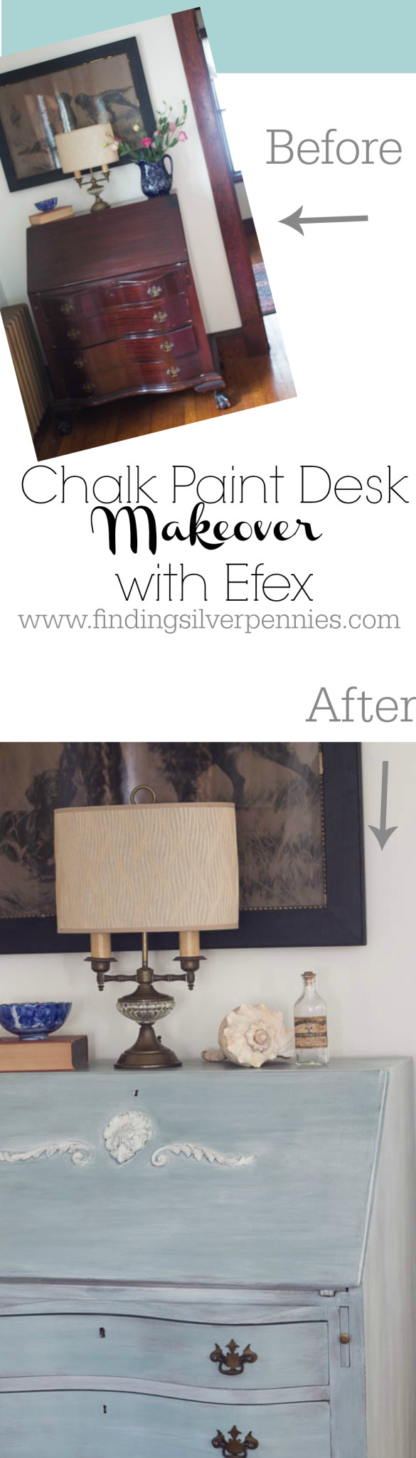 Chalk Paint and Efex Desk Makeover