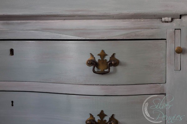 Close Up Chalk Paint Drawers