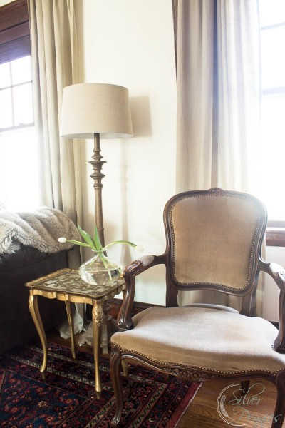 French Chair and gilded table