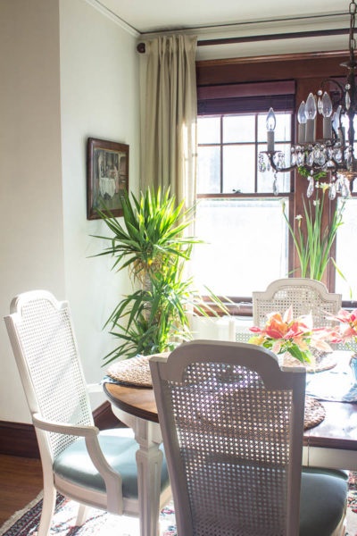 French Dining Room in Sunlight