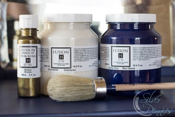 Fusion Mineral Paint, tints and brush