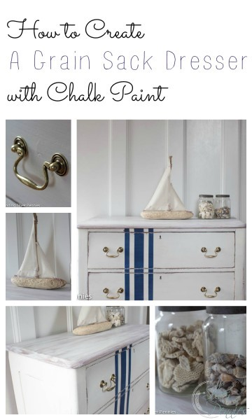 How to Create A Grain Sack Dresser with Chalk Paint