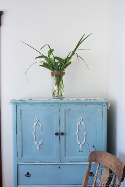 Painted Armoire with Tullips