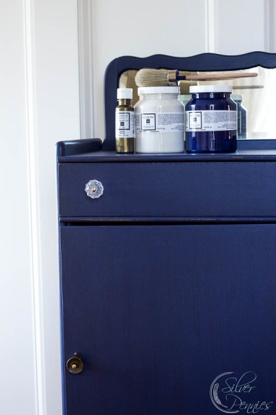 Record Cabinet Painted in Fusion Mineral Paint
