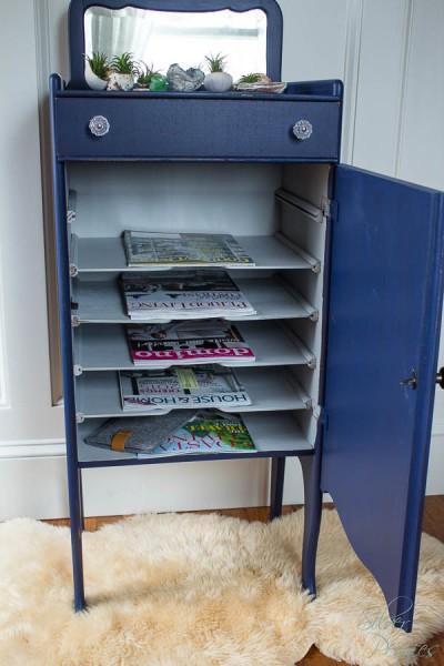 Upcycled magazine storage
