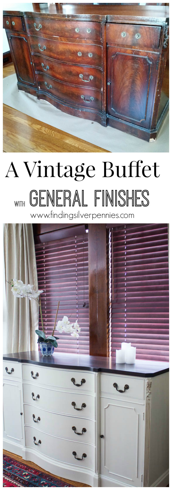 General Finishes Buffet Before and After