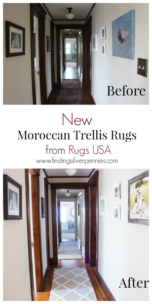 New Moroccan Trellis Rugs Before and After