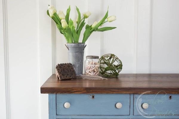 A pretty milk paint dresser
