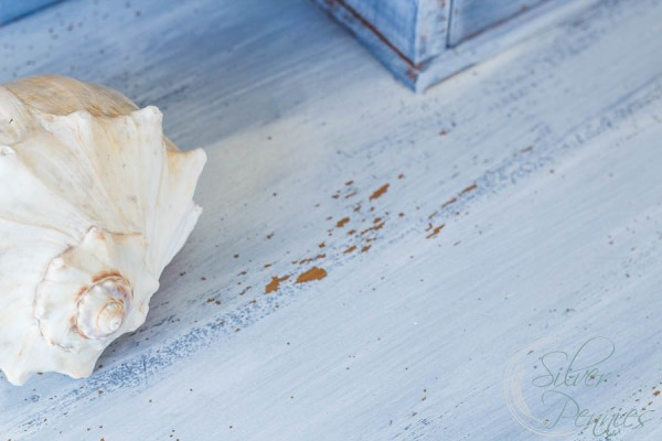 Chipping Milk Paint and Shell