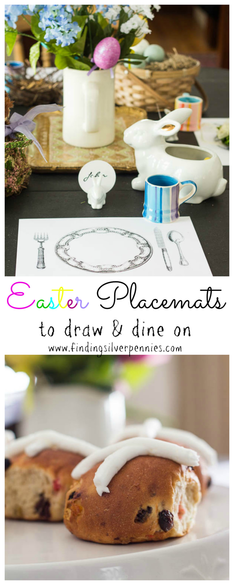 Easter Placemat Free Printable by Finding Silver Pennies