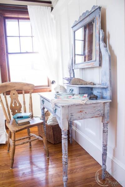 English Dressing Table in sunshine