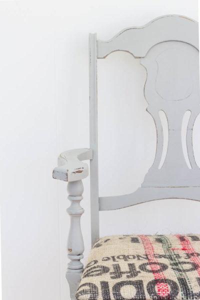 Hand Painted Coffee Sack Chair