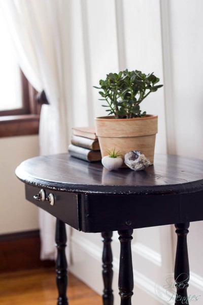 Lamp Black Side Table