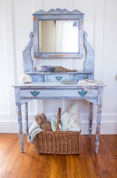 Painted English Antique Vanity
