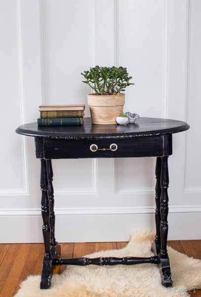 Vintage Black Table with General Finishes