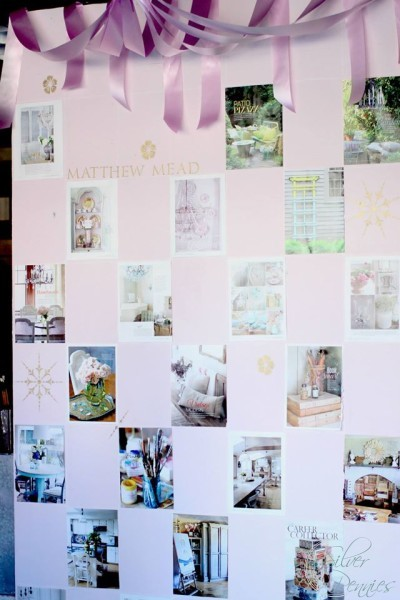 Beautiful 12 foot wall featuring images of Matthew Meads New Magazine
