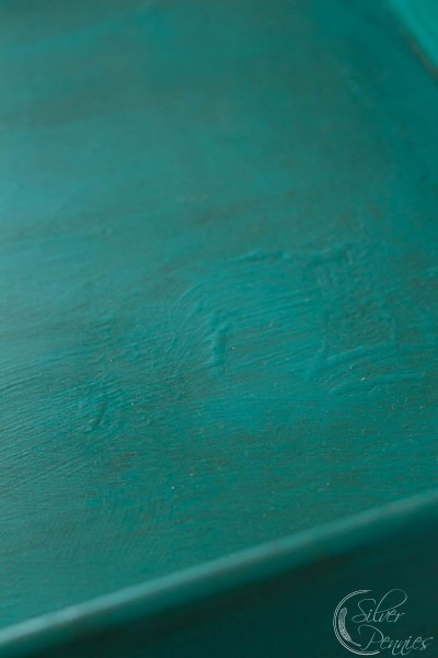 Close Up of Textured finish and dark wax