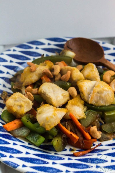 Delicious and easy stir fry with hand carved spoon