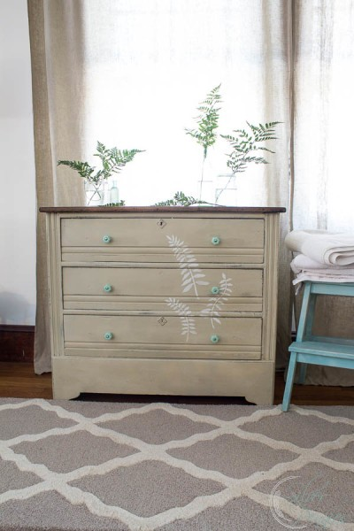 Fern Dresser with Chalk Paint and Royal Design Studio