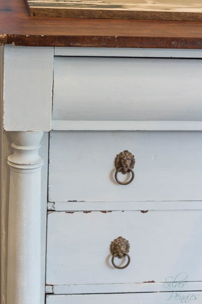 Gorgeous hardware and natural top