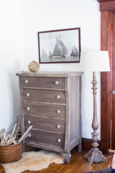 Muted Colors of a Driftwood Dresser