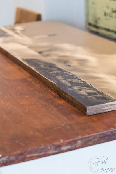 Original Wood top with mounted image