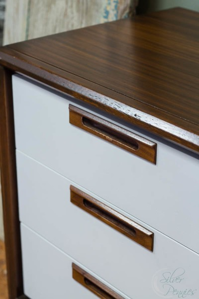 Restored wood and bright white drawers