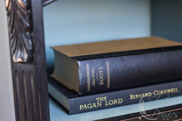 Books inside shelf