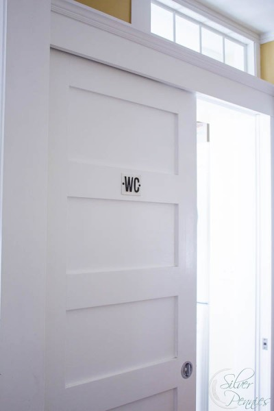 Door to Bathroom with WC sign