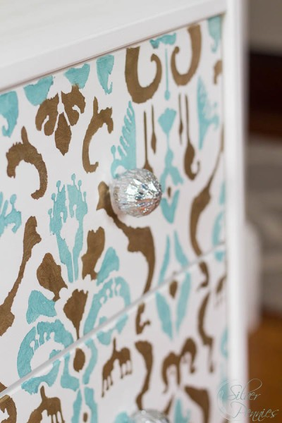Fun Stenciled Ikea Hack