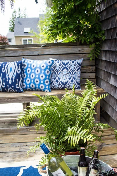 Ikat and ferns