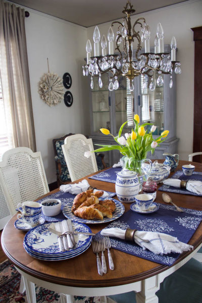 Indigo Placemats and Brunch