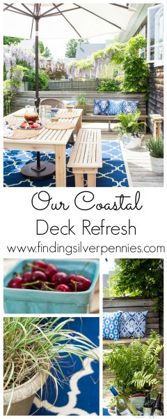 Our Coastal Deck Refresh with Finding Silver Pennies