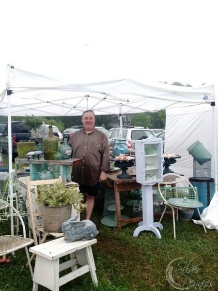 A wet day at the vintage bazaar