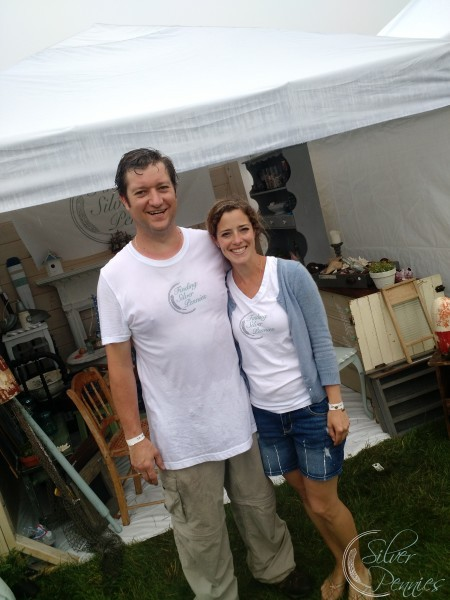 Rainy Sunday at Vintage Bazaar Finding Silver Pennies Booth