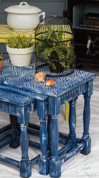 Batik Nesting Tables