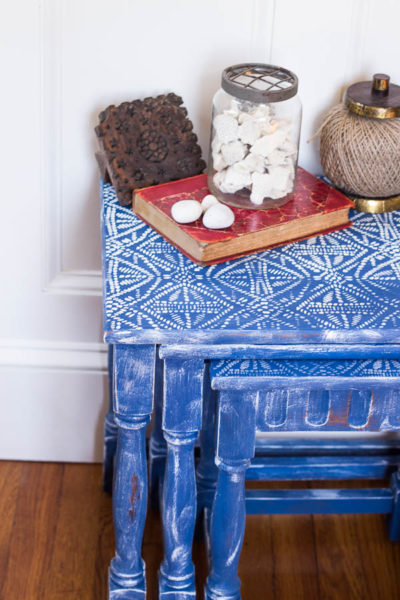 Batik Nesting Tables (Before and After)