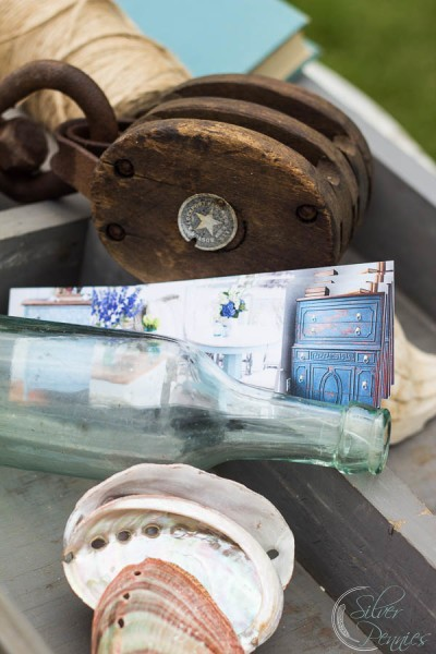 Cards and nautical elements