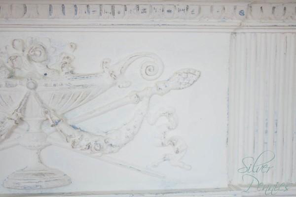 Close Up Detail on Chalk Paint Mantel