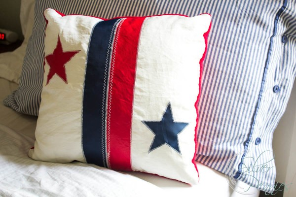 Close Up Sail Cloth Pillow