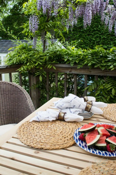 Fresh watermelon and outdoor living