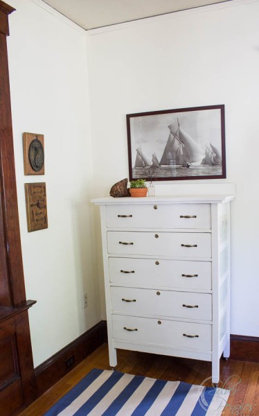 Handsome white dresser in Fusion Mineral Paint